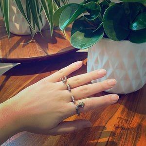 Three Finger Snake Ring